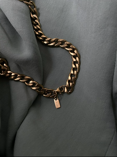 Inox chain collier