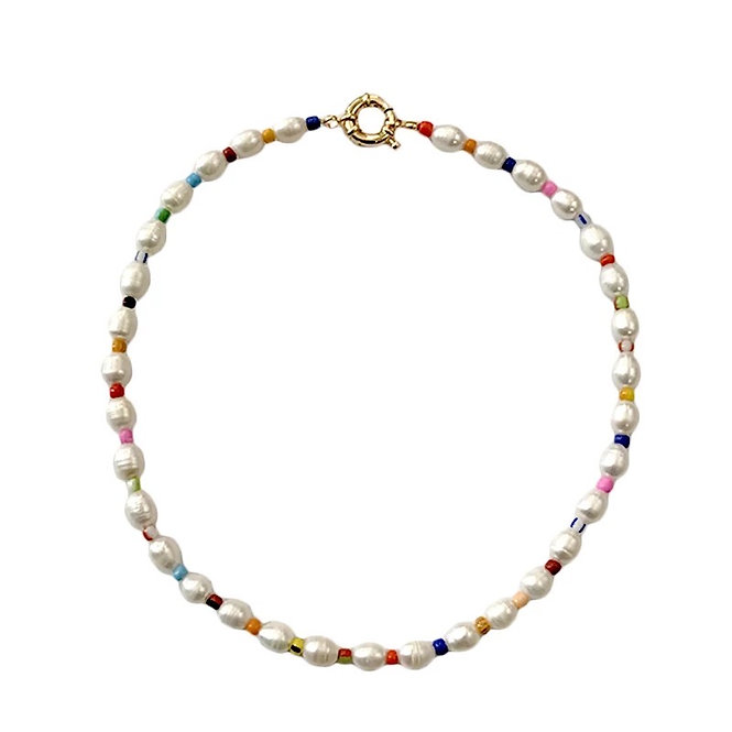Seawater pearl collier