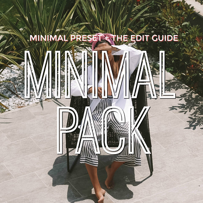 MINIMAL PACK - All minimal preset + The edit guide