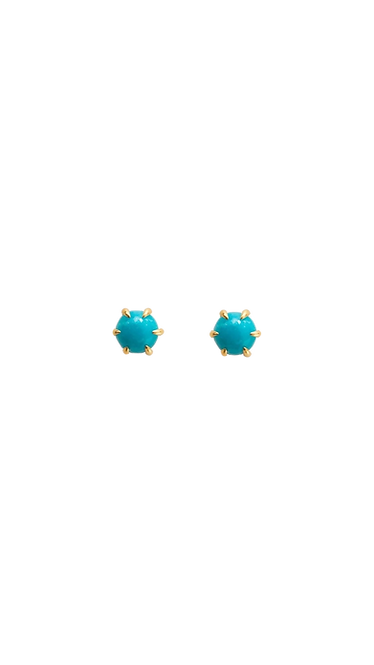 Turquoise point earrings