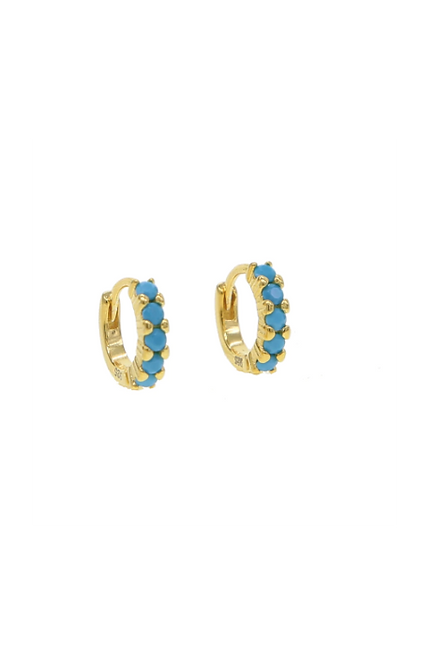 Tini Blue zircon earrings