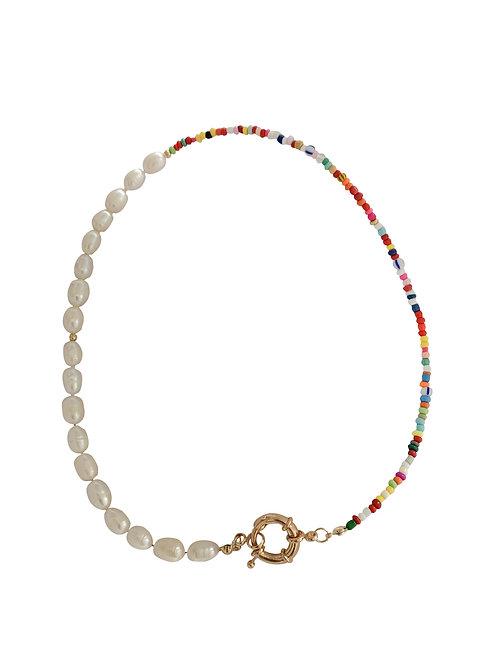Multi-Color seawater pearl chocker