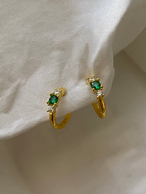 Gem earrings