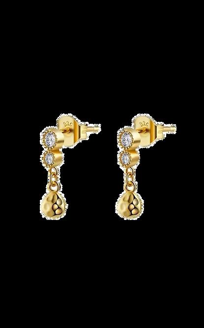 chain strass earrings