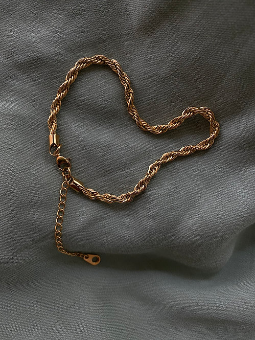GOLD WAVE ANKLET