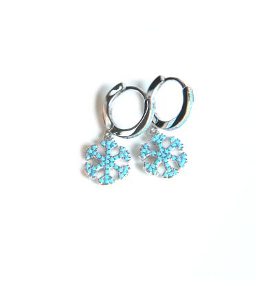 Silver blue snowflake