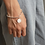 Thumbnail: Silver coin bracelet