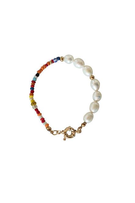 Multi-Color seawater pearl bracelet