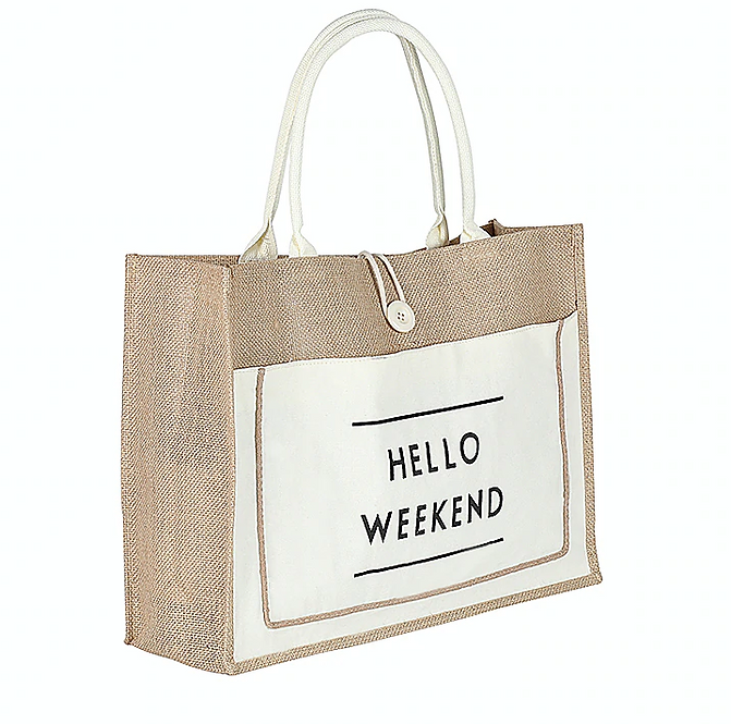 HELLO WEEKEND WHITE BAG