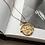 Thumbnail: Coin amulet gold necklace