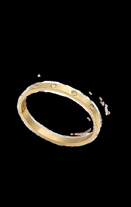 Cristal gold bracelet