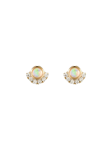 Sparking Zircon Round earrings