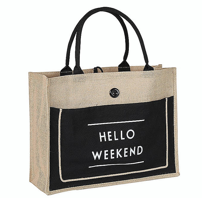 HELLO WEEKEND BLACK BAG
