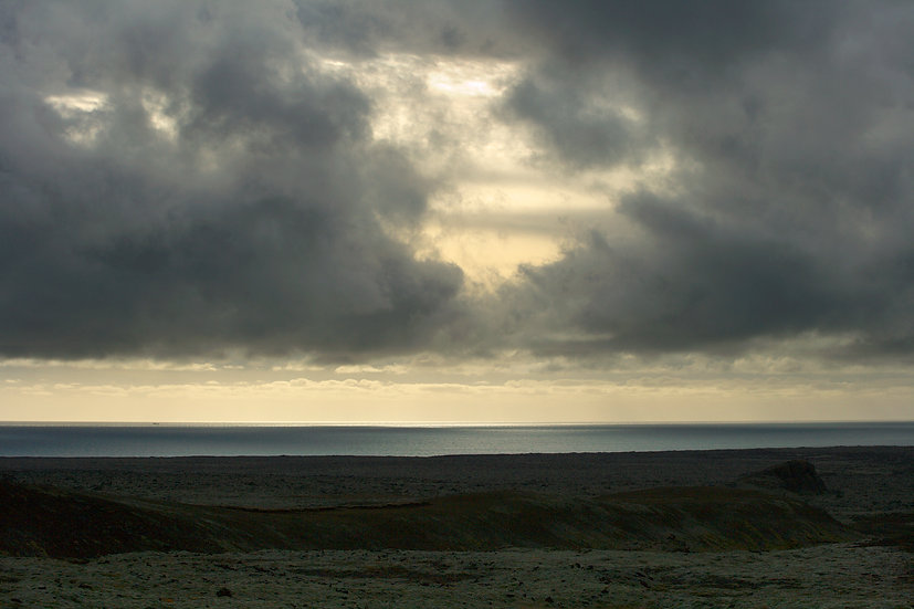 Facing South in Iceland, Archival Ink Jet Print