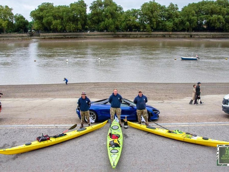 Over 300 miles in a kayak and more than £20,000 raised