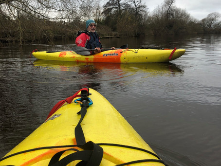 If we are going to paddle almost 300 miles in April, we had better get training!