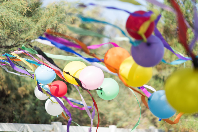Balloon Theme First Birthday Party - The Details