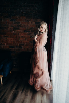 Boudoir Image in robe by BONNY Photography