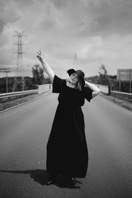 Black and white landscape portrait by Personal Branding Photographer Tamika McCall