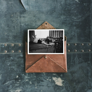 Leather envelope print set on cotton rag paper by Launceston Boudoir Photographer Tamika McCall
