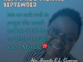 PUSH Prayer Moments: September 2018