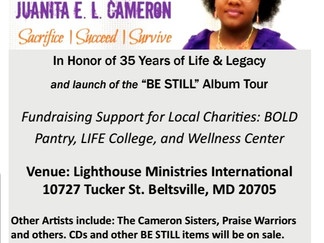 Be Still Tour • Gospel Fundraiser Concert Sat. April 28, 2018 • 7:30PM