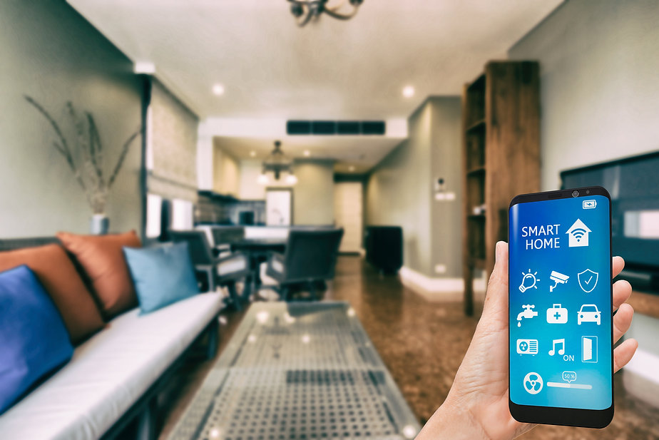 Mobile phone with app smarthome intellig