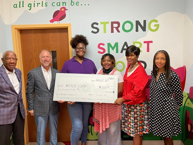 Scholarship Awardee with GFM Board Members
