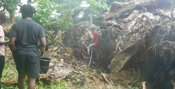 Providence Island salvage excavation.