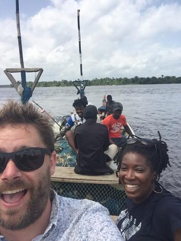 Boating trip to Chimpanzee Island