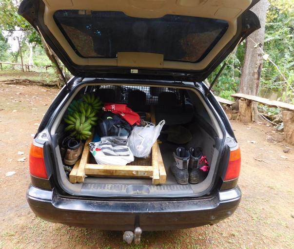 Packed wagon