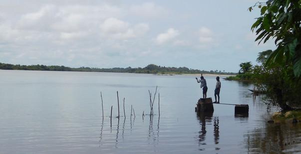 Boys fishing in Edina.