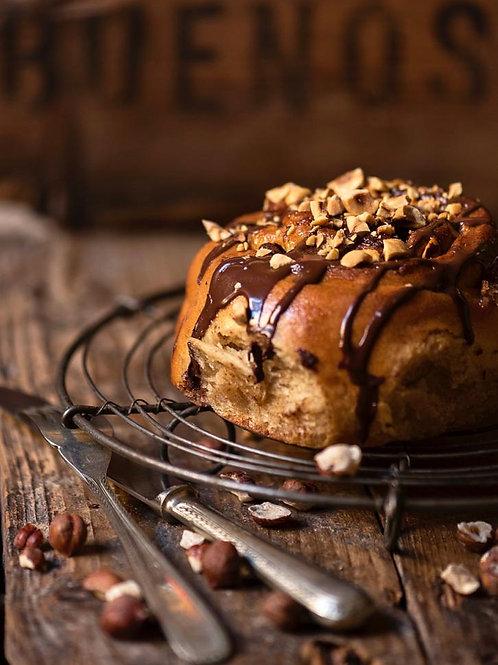 Roll de Chocolate Nutella y Avellanas