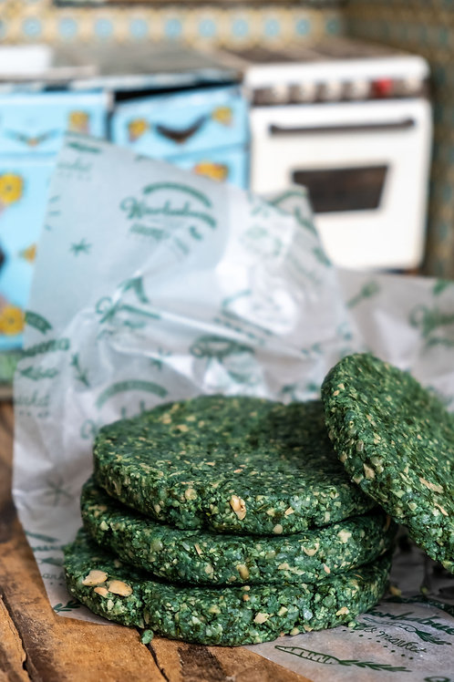 Hamburguesas Veganas de Kale y Spirulina