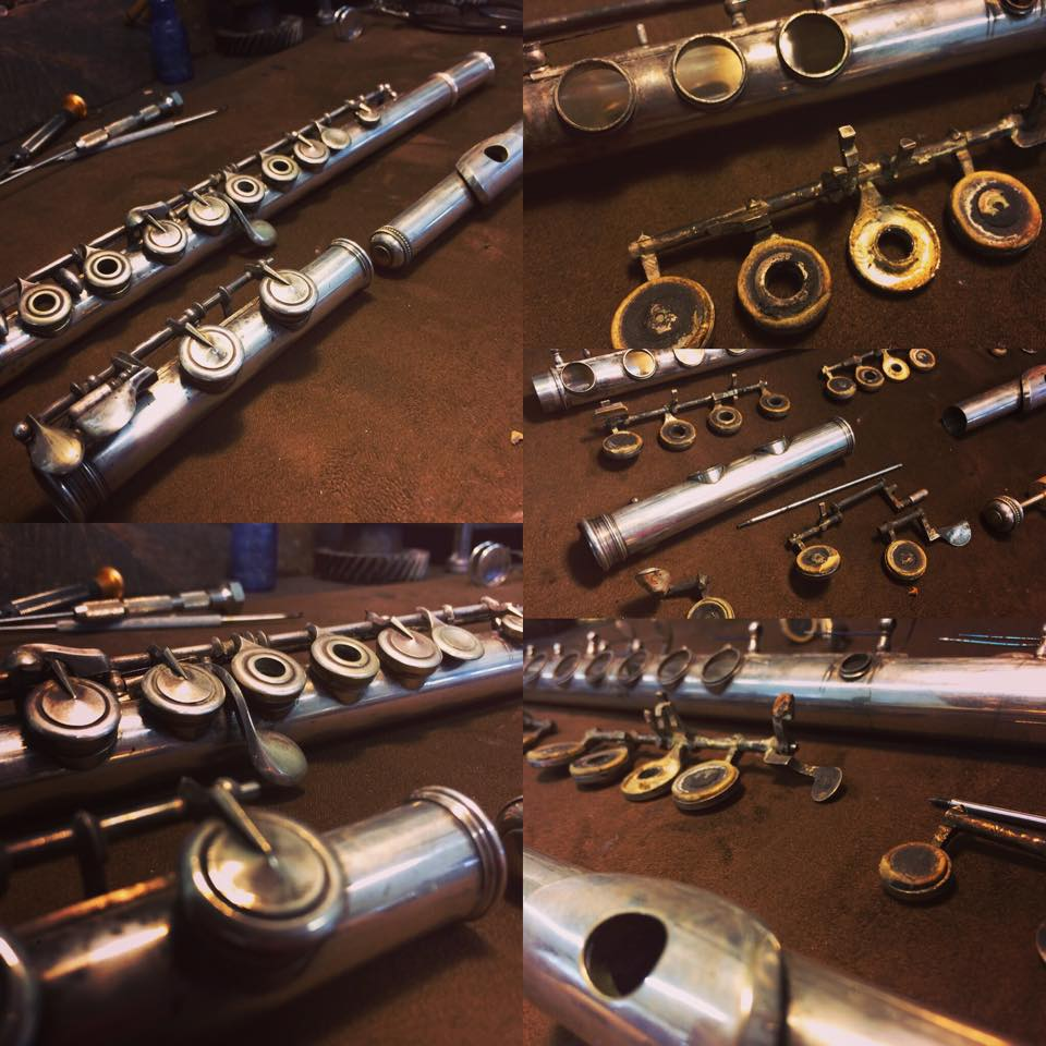 110 Year Old Flute Before