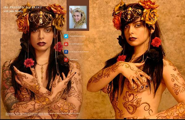Skinmarkz April issue Henna effect bodya