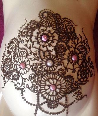 Henna Baby blessing design