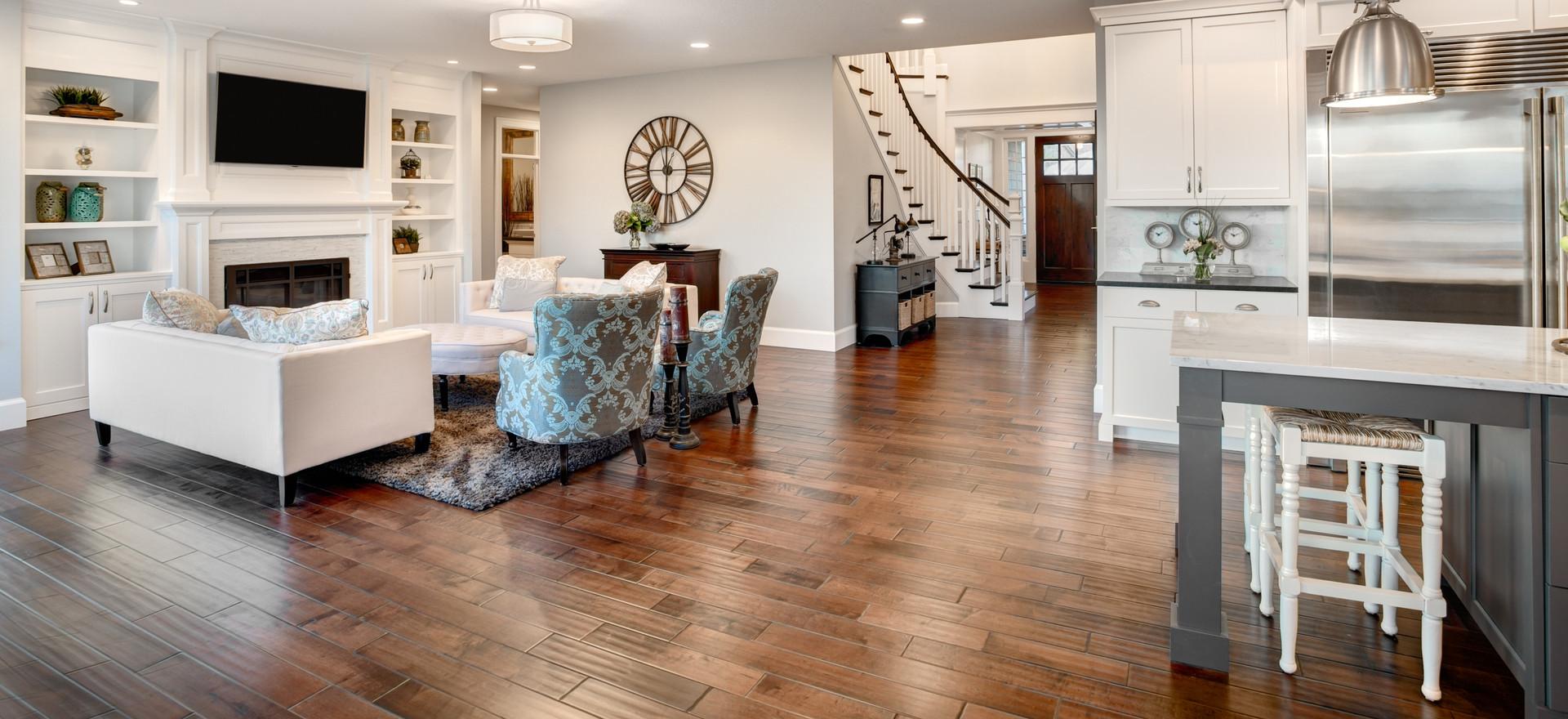 Modern living Space in Luxury Vinyl Tiles