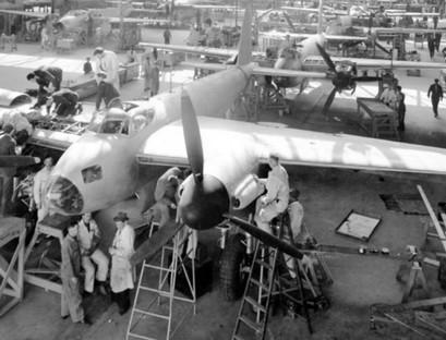 Many military and civilian aircraft were built at the de Havilland facility