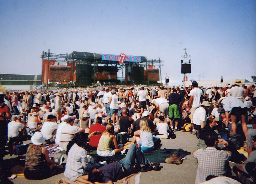 SARSstock bands included: AC/DC, The Guess Who, Rush, Justin Timberlake, the Isley Bros, Sam Roberts, and The Rolling Stones