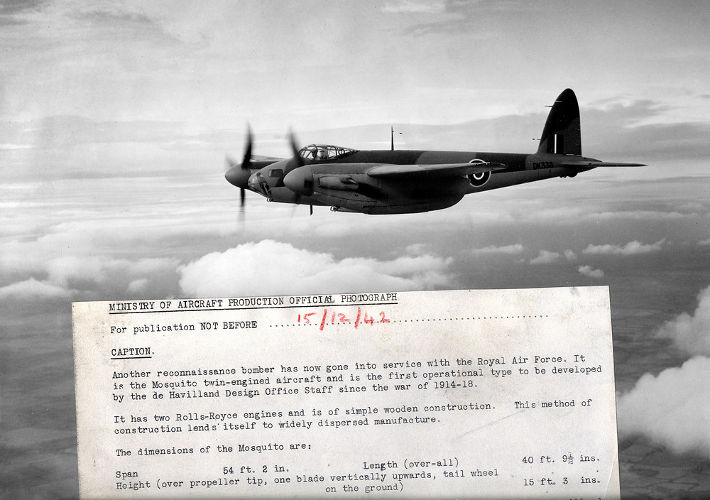 The 1942 official Mosquito photograph from the Ministry of Aircraft Production