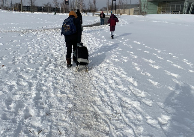 winter walking conditions are poor in pl