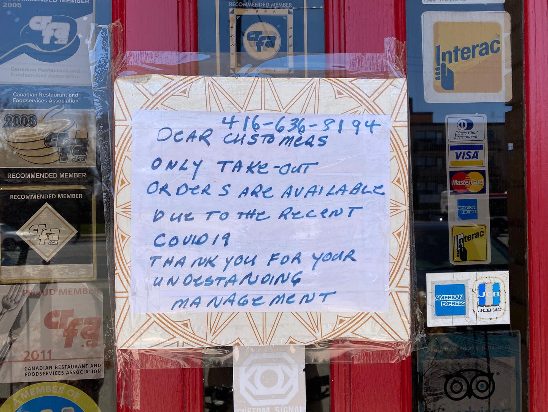mastros restaurant covid closure sign.jp