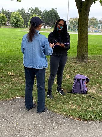 Fieldnotes interviewing in Grand Ravine