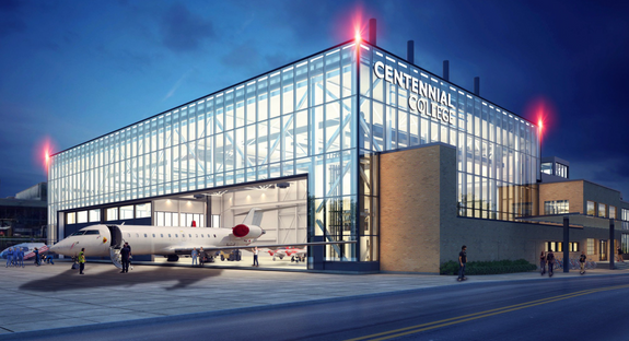 The site's aviation heritage continues at Centennial College