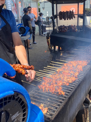We saw lots of people out enjoying local food and social life. Outdoor grills add to the appeal of the area and an energetic street life.