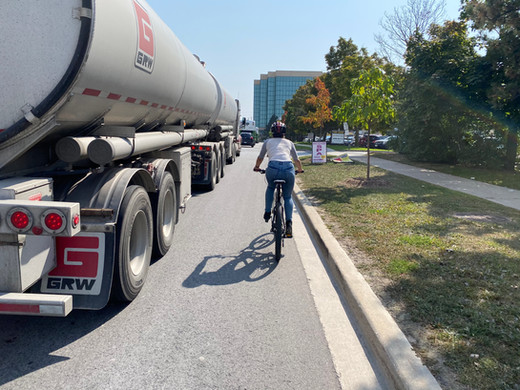 During bike tours, locals showed us many hazards facing cyclists, including the lack of bike lanes and secure bike parking, lanes that end suddenly and missing connections.