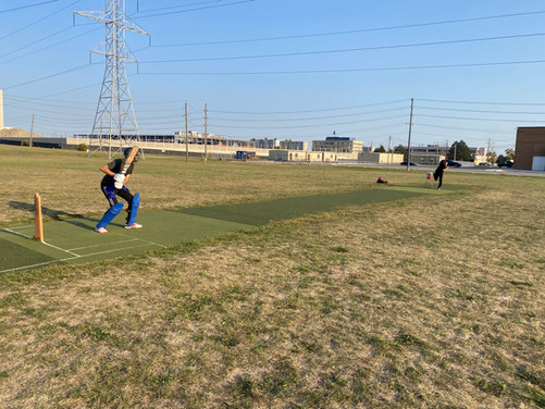 We saw plenty of examples of people making the most of Downsview's beautiful green space, like the hydro fields: a spectacular space used spontaneously by the public. Cricket anyone?