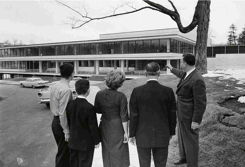Construction of the north Y, Bathurst Manor, ca. 1958