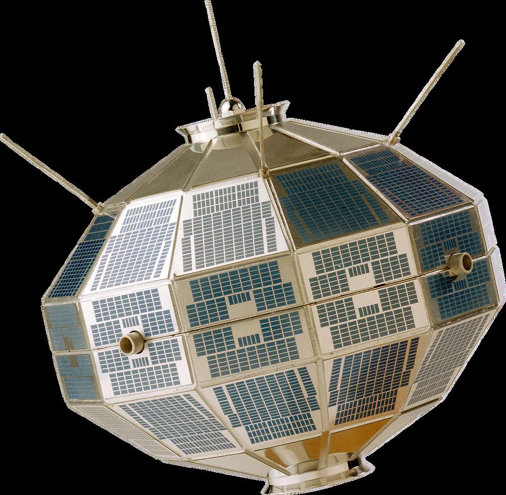 The Alouette Satellite with its unique STEM antenna